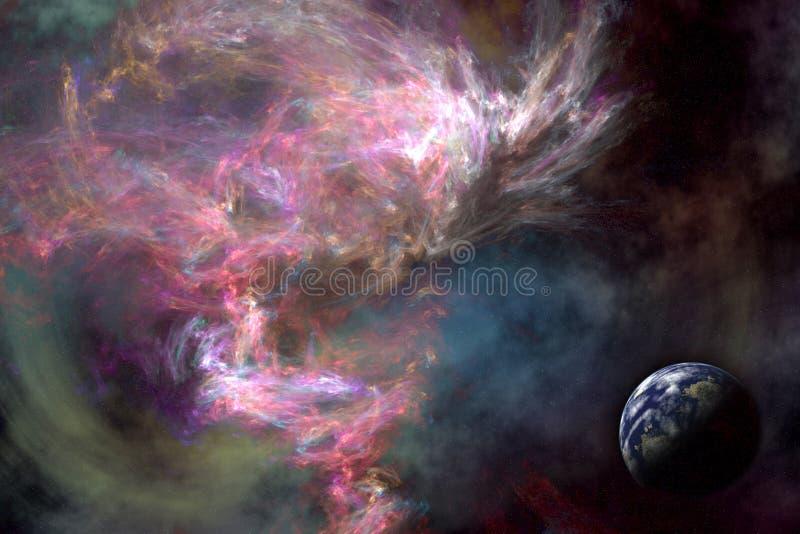 космос сценария иллюстрация штока