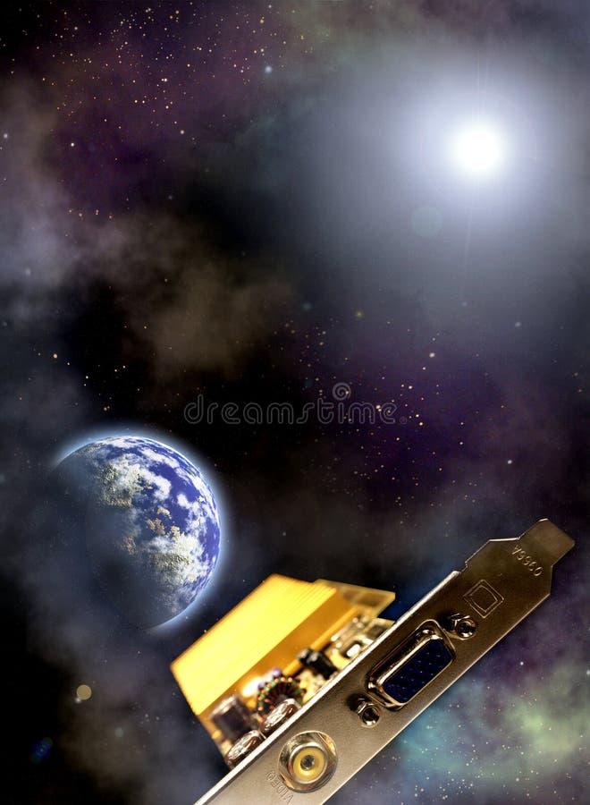 космос сценария иллюстрация вектора