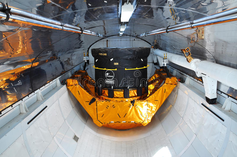 космос челнока исследователя груза залива стоковые изображения