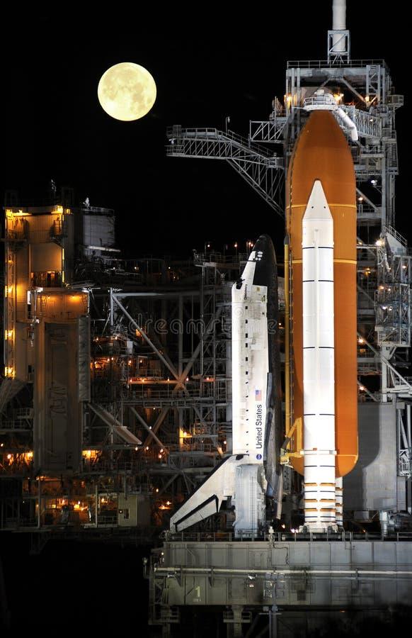 космос челнока стартовой площадки стоковое изображение rf