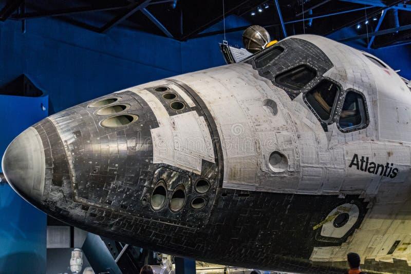 космос челнока Атлантиды стоковое изображение rf
