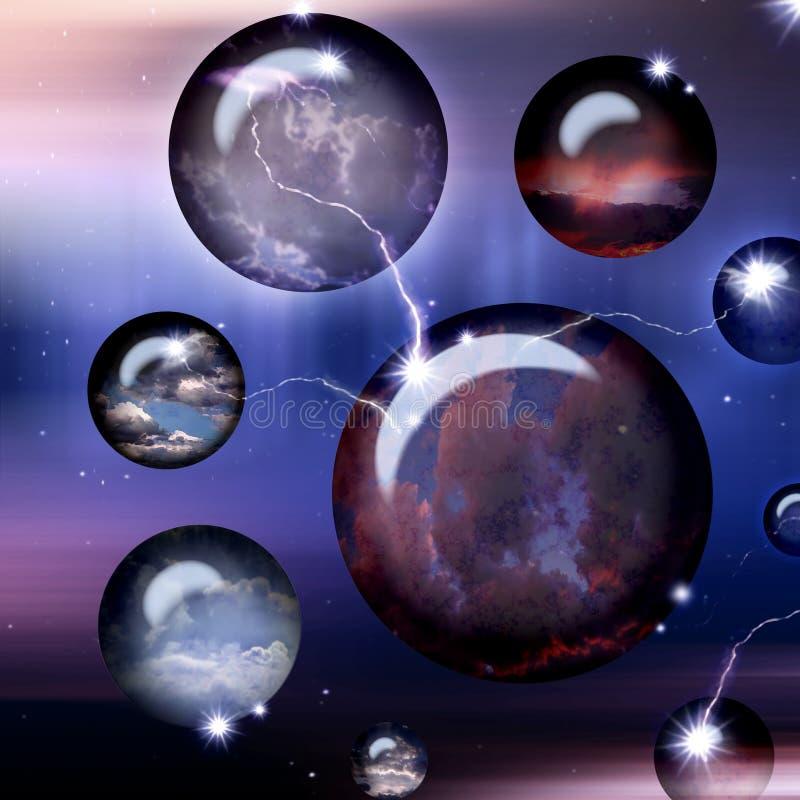 космос шаров cyber бесплатная иллюстрация