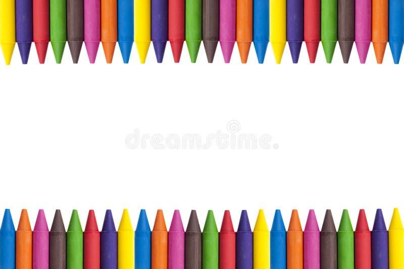 Космос экземпляра Crayons стоковая фотография rf