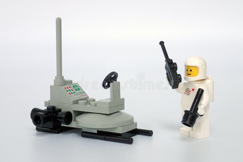 Космос Lego классический не установил никакие 6801, багги луны стоковое изображение