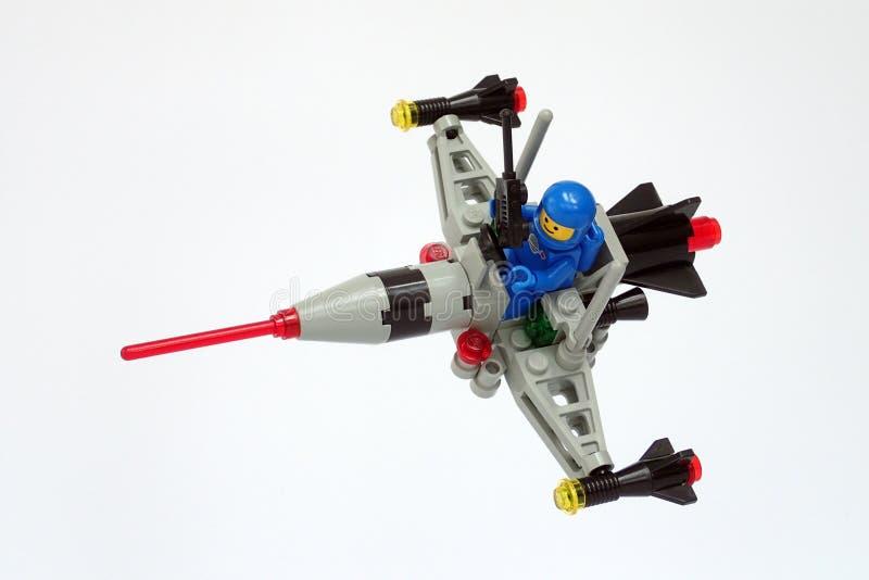 Космос Lego классический установил никакой 6824, дротик космоса стоковое изображение