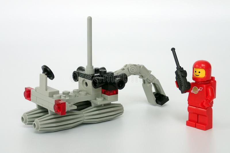 Космос Lego классический установил никакой 6822, землекоп космоса стоковое фото