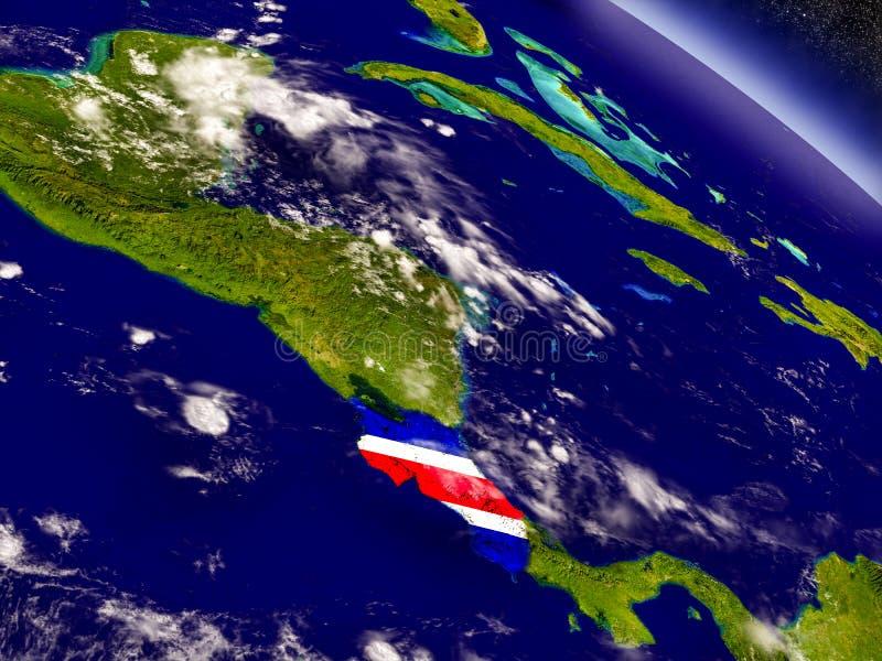 Download Коста-Рика с врезанным флагом на земле Иллюстрация штока - иллюстрации насчитывающей космос, borgia: 81803075
