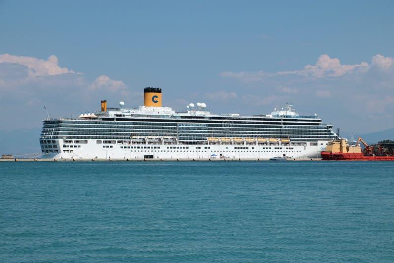 Коста Deliziosa туристического судна стоковые изображения rf
