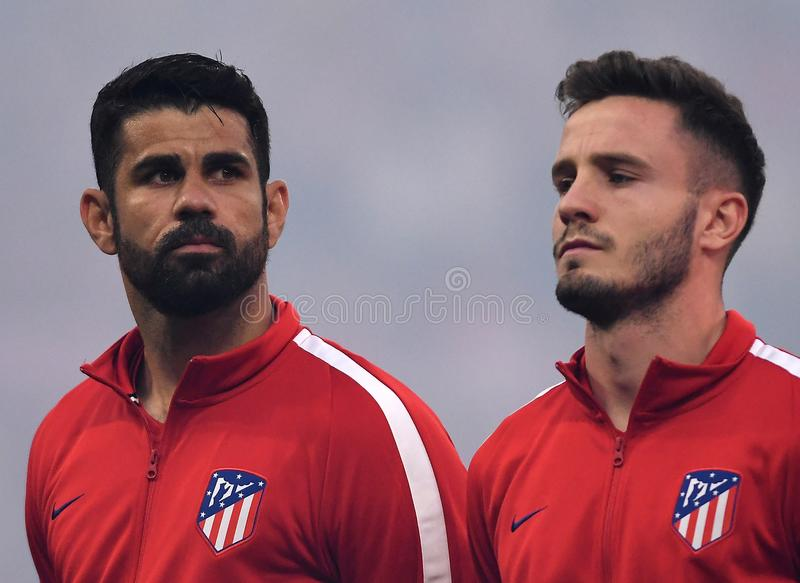 Коста Diego и Saul Niguez стоковая фотография