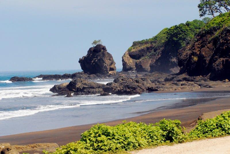 Коста Rica- красивая береговая линия около Nosara стоковые изображения
