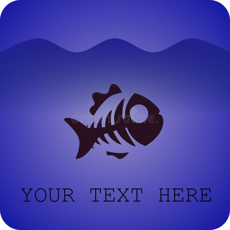Косточка рыб под морем стоковые фото