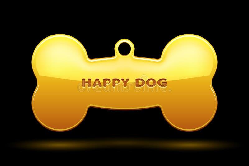 Косточка собаки иллюстрация вектора