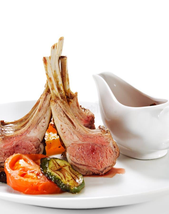 косточка dishes горячее мясо овечки стоковое фото