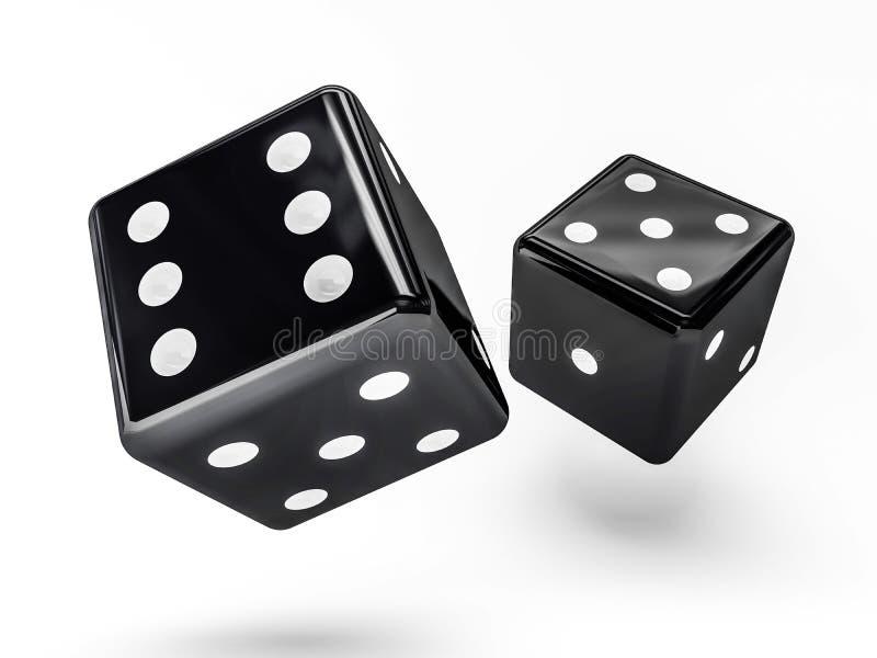 Кость казино изолированная на белизне, 3D бесплатная иллюстрация