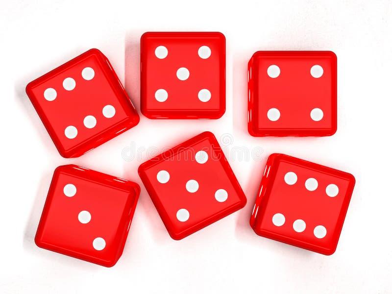 Кость казино на белизне, 3D бесплатная иллюстрация