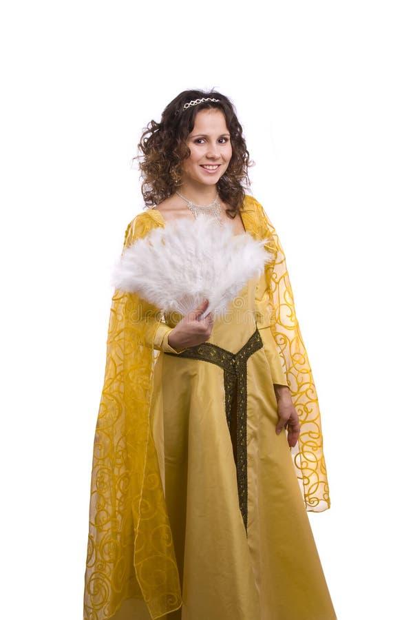 костюмирует женщину princess стоковая фотография