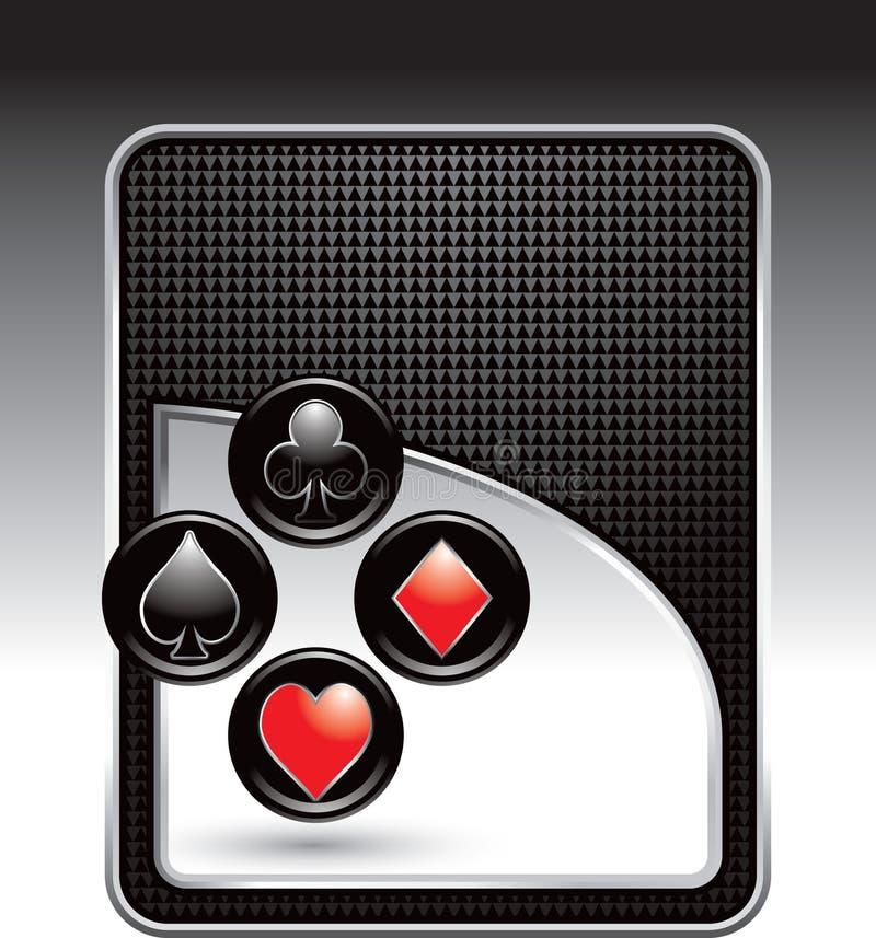 костюмы черной карточки фона checkered играя иллюстрация вектора