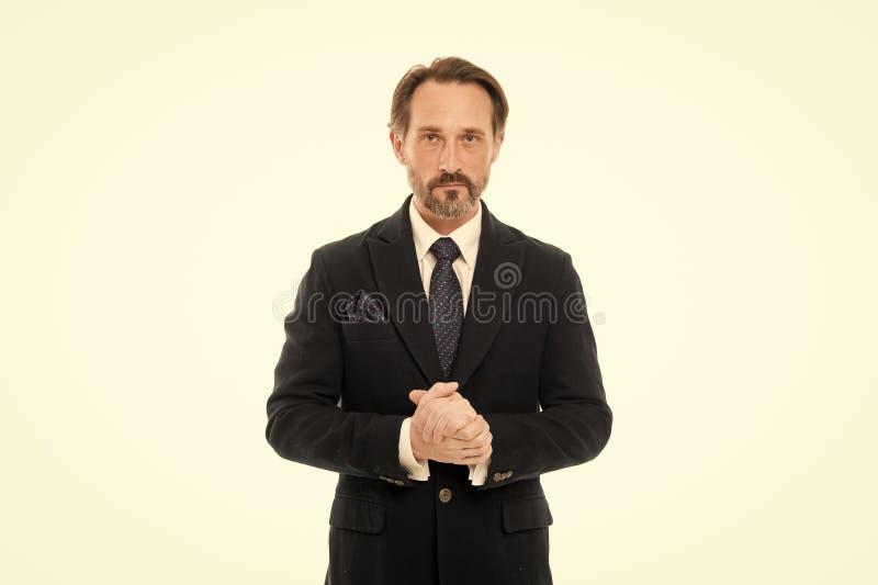 Костюм вдохновляет чувство доверия джентльмена Идеальный костюм для каждого типа парня Носка фотомодели человека красивая зрелая стоковые изображения rf