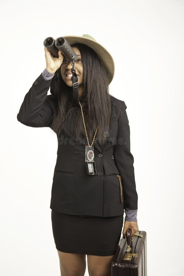 костюм девушки дела стоковое изображение rf