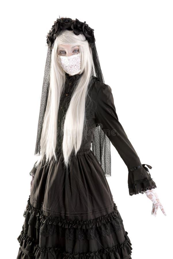 Костюм девушки куклы вдовы стоковые изображения rf