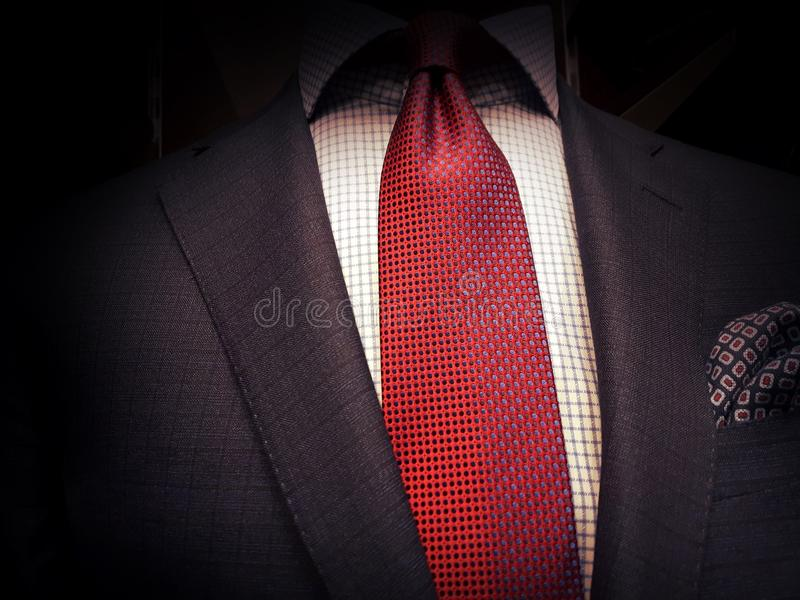 Костюм и красная связь стоковая фотография rf
