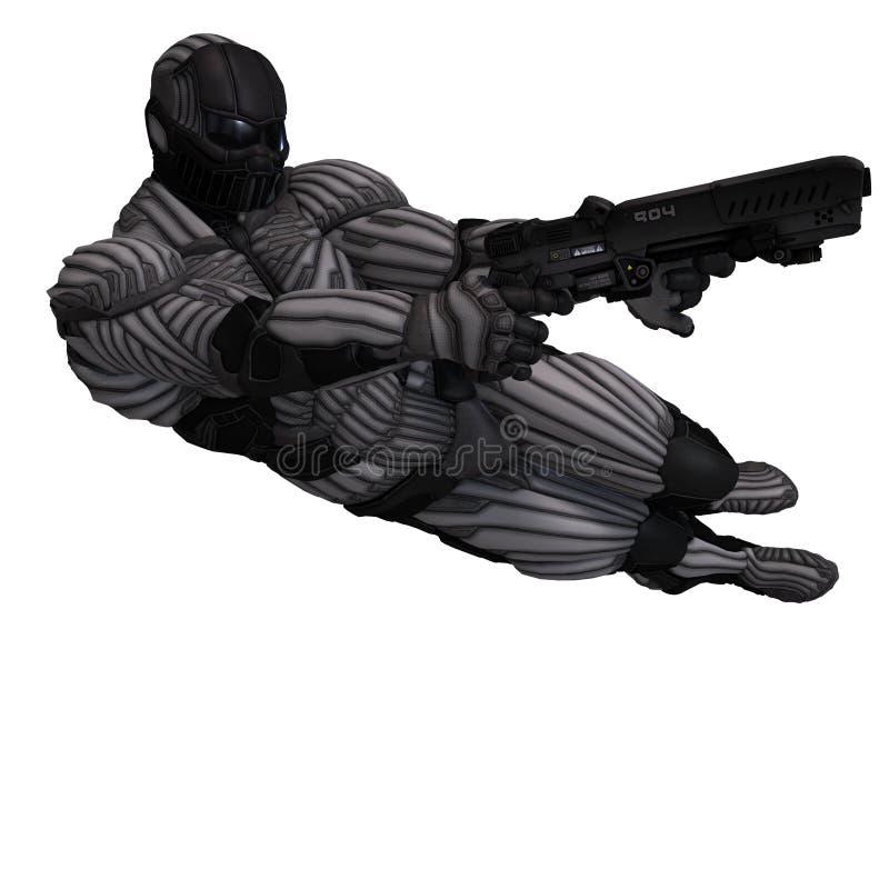 костюм науки небылицы характера футуристический мыжской иллюстрация штока