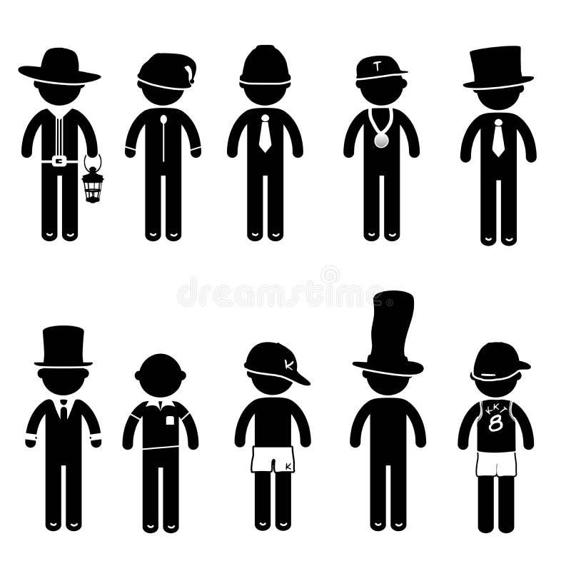 Костюм одежды знака значка людей позиции человека основной стоковые изображения rf