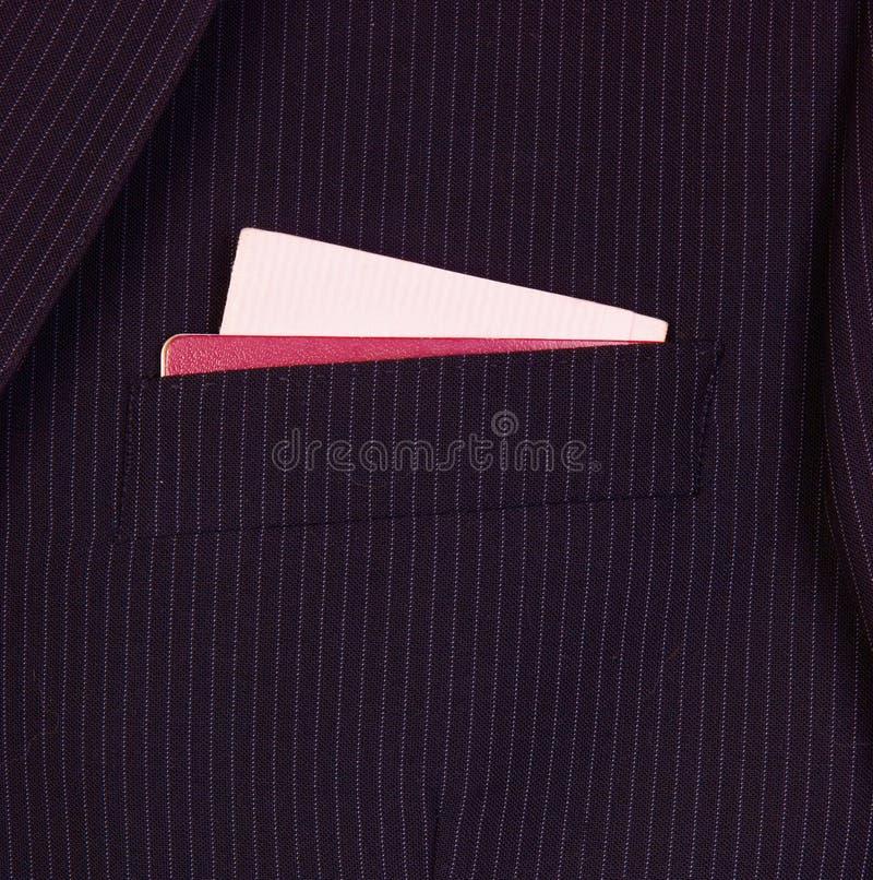 костюм пасспорта водительского права стоковая фотография rf