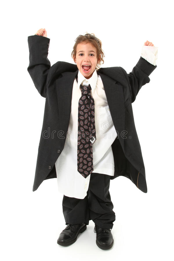 костюм ребенка слишком большой стоковые фотографии rf