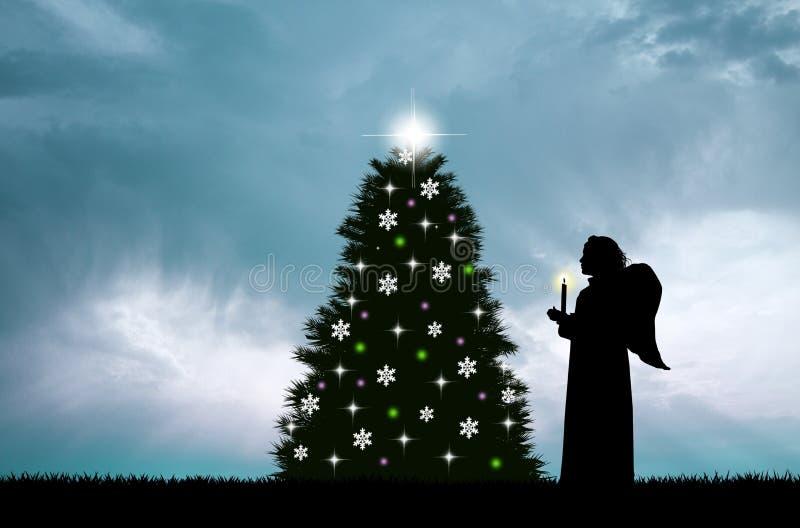 Костюм рождества ангела бесплатная иллюстрация