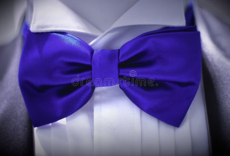 Костюм рубашки стиля костюма классической бабочки носки голубой стоковое изображение