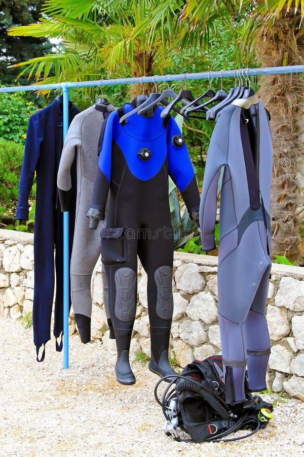 костюм скуба стоковое фото rf