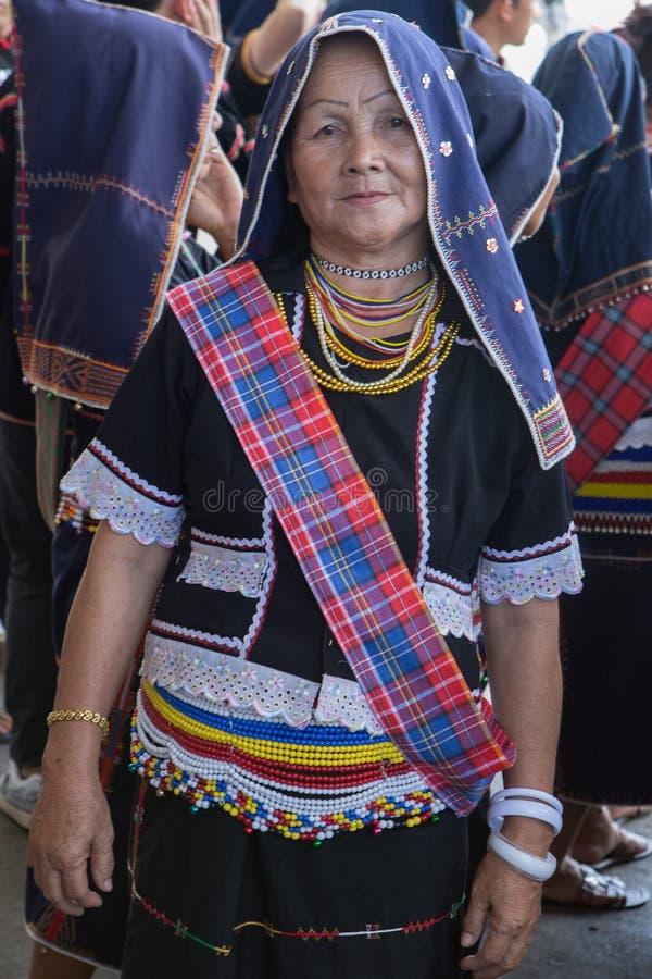 Костюм dusun Kadazan традиционный стоковая фотография