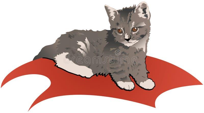 котенок иллюстрация вектора