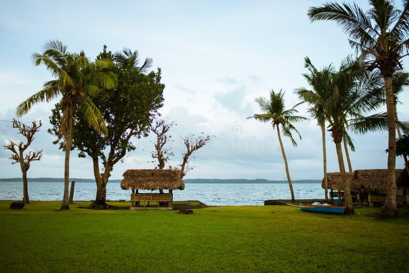 Коттеджи курорта в Филиппинах стоковые фотографии rf