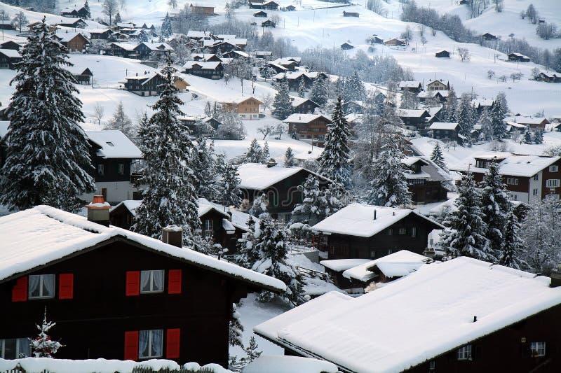 коттеджи швейцарские стоковая фотография