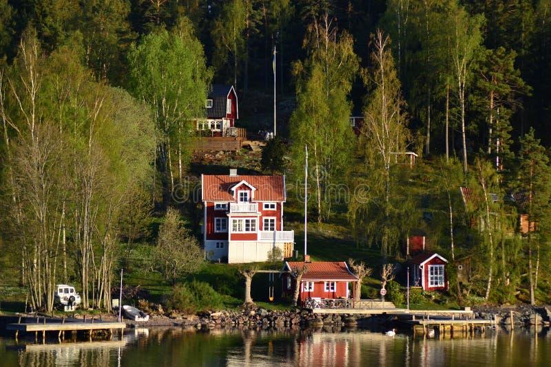 Коттеджи в Швеции стоковое изображение