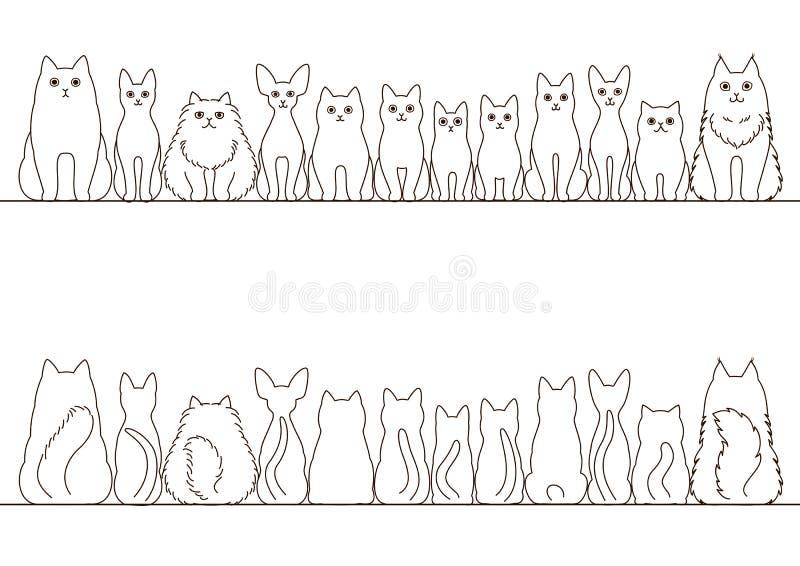 Коты граничат комплект бесплатная иллюстрация