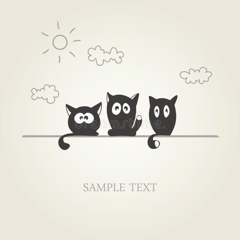 коты милые иллюстрация вектора