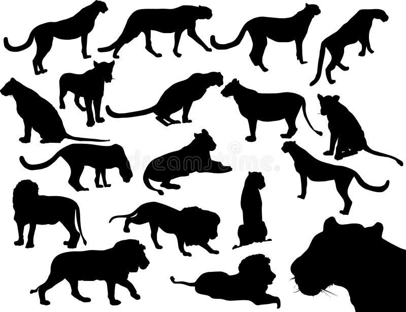 коты одичалые иллюстрация вектора