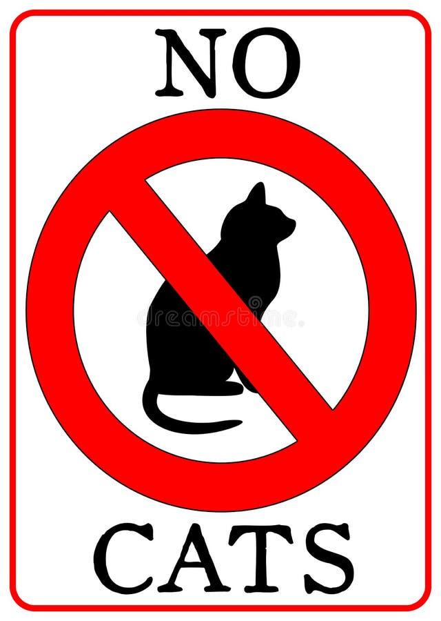 коты отсутствие знака иллюстрация вектора
