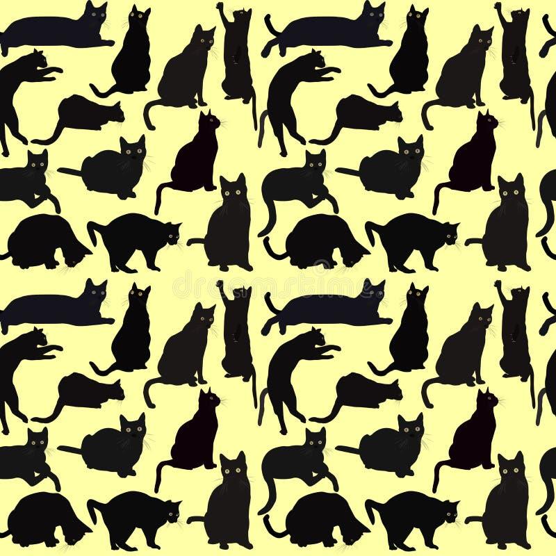 коты предпосылки безшовные бесплатная иллюстрация