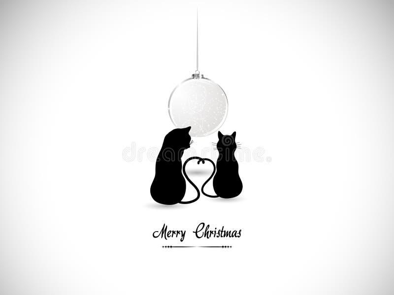 Коты рождества иллюстрация штока