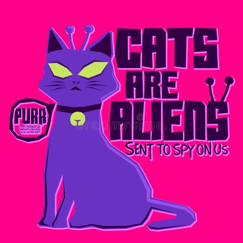 Коты чужеземцы иллюстрация вектора