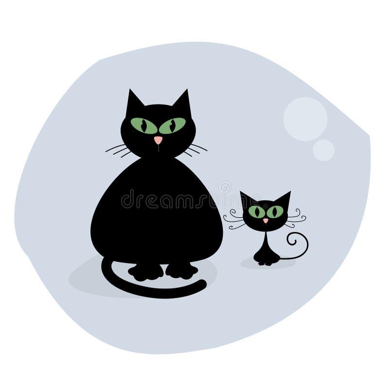 Коты шаржа monochrome черные бесплатная иллюстрация