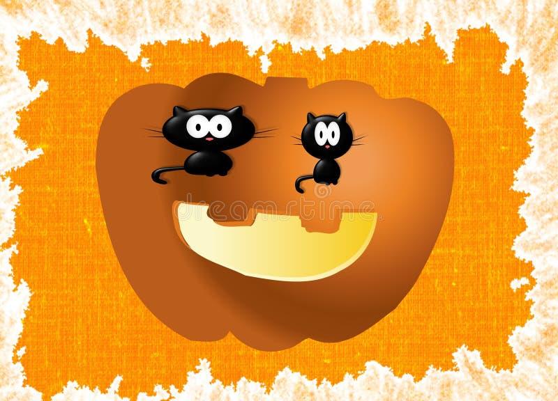 коты halloween иллюстрация штока