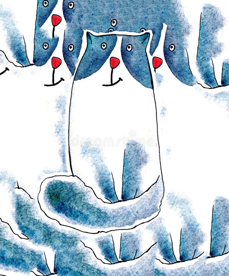 Кот акварели милый на белой предпосылке График акварели для ткани, открытки, поздравительной открытки, книги, плаката, футболки стоковые изображения rf