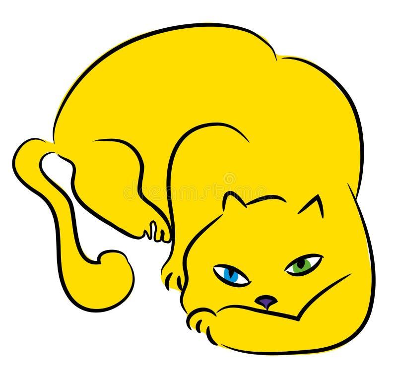 Кот атакует бесплатная иллюстрация