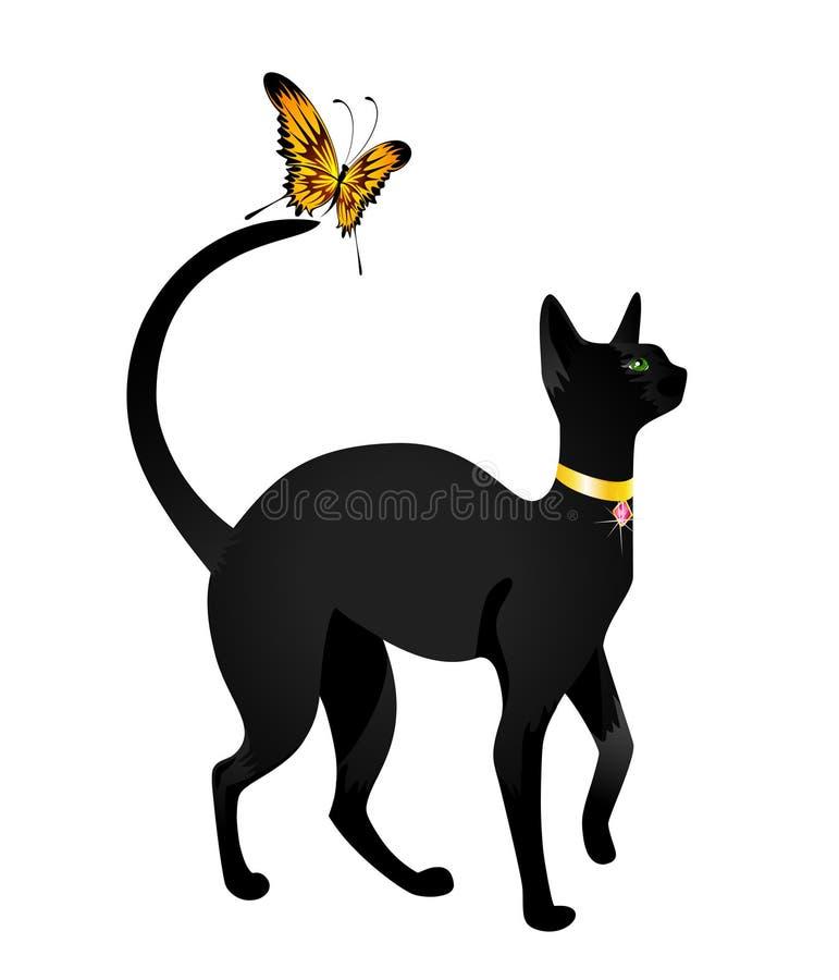 кот бабочки бесплатная иллюстрация
