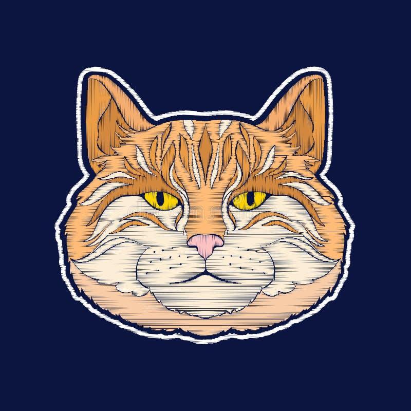 Кот Вышивка значки заплаты fachion бесплатная иллюстрация